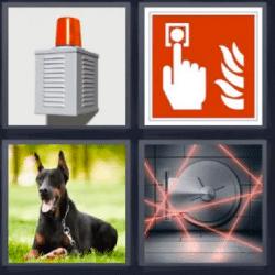 4 fotos 1 palabra perro doberman