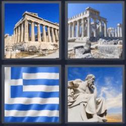 4 fotos 1 palabra ruinas griegas