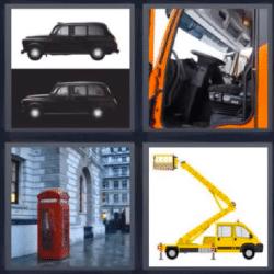 4 fotos 1 palabra auto negro