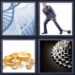 4 fotos 1 palabra ADN tornado
