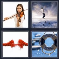4 fotos 1 palabra violin tiburones cuerda roja for Cama 4 fotos 1 palabra