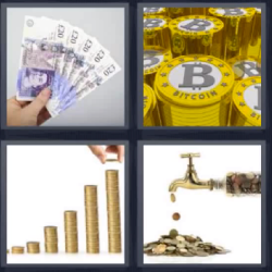 4 fotos 1 palabra billetes