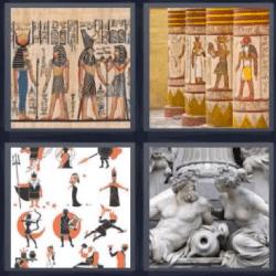 4 fotos 1 palabra egipcios