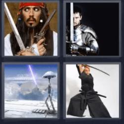 4 fotos 1 palabra piratas del caribe
