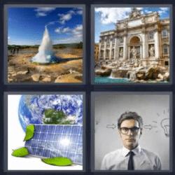 4 fotos 1 palabra placa solar