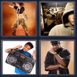 4 fotos 1 palabra hombre con radio