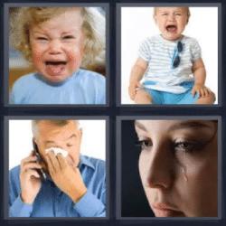 4 fotos 1 palabra bebe