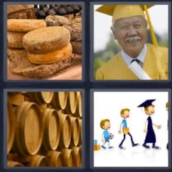 4 fotos 1 palabra barriles graduado