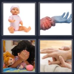 4 fotos 1 palabra manos juntas