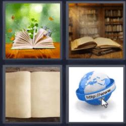 4 fotos 1 palabra libros abiertos