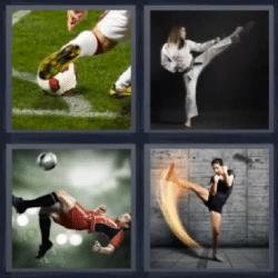 4 fotos 1 palabra karateka