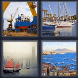 4 fotos 1 palabra buque de carga