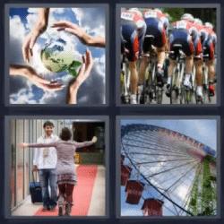 4 fotos 1 palabra ciclistas