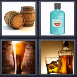 4 fotos 1 palabra barriles