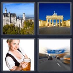 4 fotos 1 palabra castillo