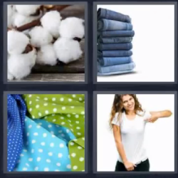 4 fotos 1 palabra pantalones vaqueros