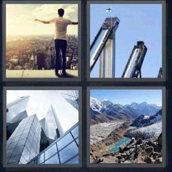 4 fotos 1 palabra rascacielos