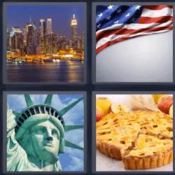 4 fotos 1 palabra nueva york