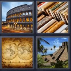 4 fotos 1 palabra libros piramide