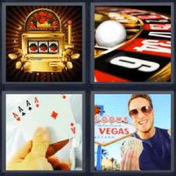 4 fotos 1 palabra las vegas ruleta cartas