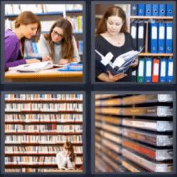 4 fotos 1 palabra biblioteca