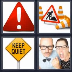 4 Fotos 1 palabra señales