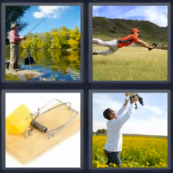 4 fotos 1 palabra pesca trampa