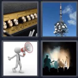 4 fotos 1 palabra antena megáfono