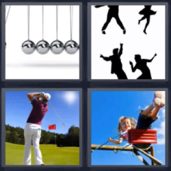 4 fotos 1 palabra bolas de metal