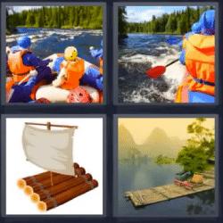 4 fotos 1 palabra barca por rio