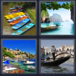 4 fotos 1 palabra canoas