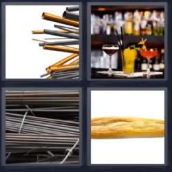 4 fotos 1 palabra tubos de metal