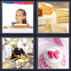 4 fotos 1 palabra tarta