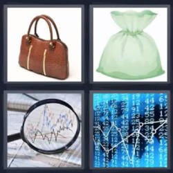 4 fotos 1 palabra bolso lupa