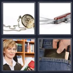 4 fotos 1 palabra reloj navaja