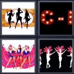 4 fotos 1 palabra bailarinas letra c