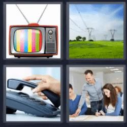 4 fotos 1 palabra televisor telefono