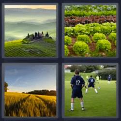 4 fotos 1 palabra paisaje