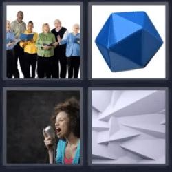 4 fotos 1 palabra coro