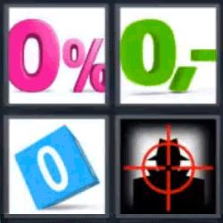 4 fotos 1 palabra ceros de colores