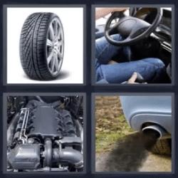 4 fotos 1 palabra rueda motor volante
