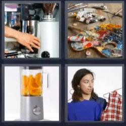 4 fotos 1 palabra cafetera