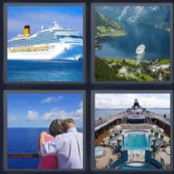 4 fotos 1 palabra barco pareja