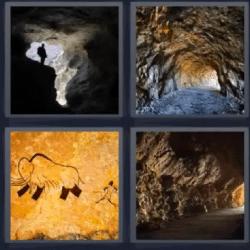 4 fotos 1 palabra caverna