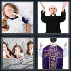 4 fotos 1 palabra enfermo padre