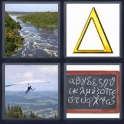 4 fotos 1 palabra rio