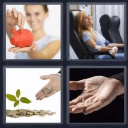 4 fotos 1 palabra alcancía