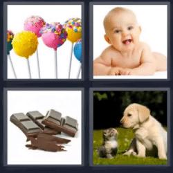 4 fotos 1 palabra paletas