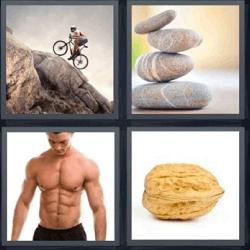 4 fotos 1 palabra piedras nuez