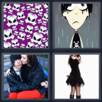 4 fotos 1 palabra craneo